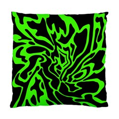 Green And Black Standard Cushion Case (one Side) by Valentinaart