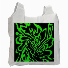 Green And Black Recycle Bag (one Side) by Valentinaart