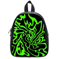 Green And Black School Bags (small)  by Valentinaart