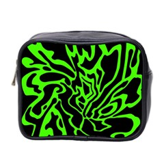 Green and black Mini Toiletries Bag 2-Side