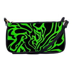 Green And Black Shoulder Clutch Bags by Valentinaart