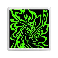 Green And Black Memory Card Reader (square)  by Valentinaart