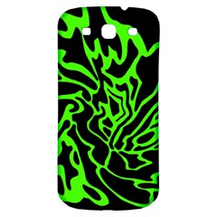 Green And Black Samsung Galaxy S3 S Iii Classic Hardshell Back Case by Valentinaart