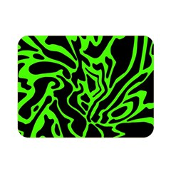 Green And Black Double Sided Flano Blanket (mini)  by Valentinaart