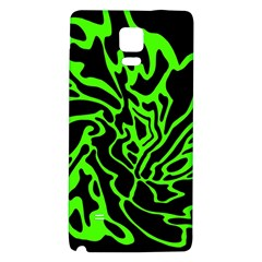 Green And Black Galaxy Note 4 Back Case by Valentinaart