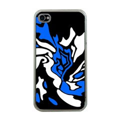 Blue, Black And White Decor Apple Iphone 4 Case (clear) by Valentinaart