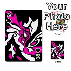 Magenta, Black And White Decor Playing Cards 54 Designs