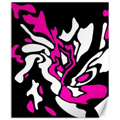 Magenta, Black And White Decor Canvas 8  X 10  by Valentinaart