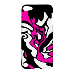 Magenta, Black And White Decor Apple Ipod Touch 5 Hardshell Case by Valentinaart