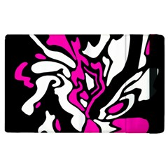 Magenta, Black And White Decor Apple Ipad 3/4 Flip Case by Valentinaart