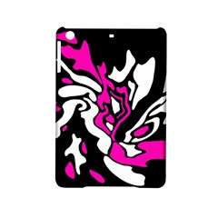 Magenta, Black And White Decor Ipad Mini 2 Hardshell Cases by Valentinaart