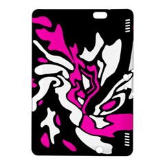 Magenta, Black And White Decor Kindle Fire Hdx 8 9  Hardshell Case by Valentinaart