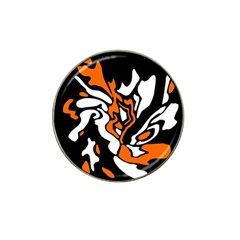 Orange, White And Black Decor Hat Clip Ball Marker (10 Pack) by Valentinaart