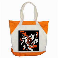 Orange, White And Black Decor Accent Tote Bag by Valentinaart