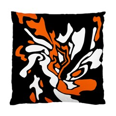 Orange, White And Black Decor Standard Cushion Case (one Side)