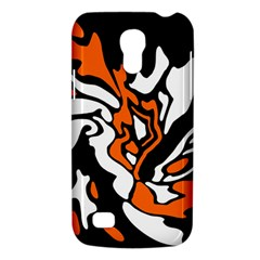 Orange, White And Black Decor Galaxy S4 Mini by Valentinaart