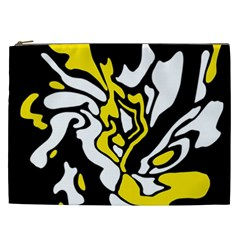 Yellow, black and white decor Cosmetic Bag (XXL)