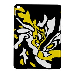 Yellow, Black And White Decor Ipad Air 2 Hardshell Cases by Valentinaart