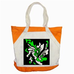 Green, White And Black Decor Accent Tote Bag by Valentinaart