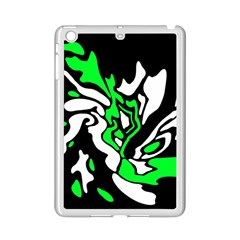 Green, White And Black Decor Ipad Mini 2 Enamel Coated Cases by Valentinaart
