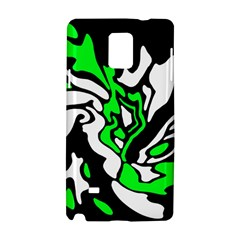 Green, White And Black Decor Samsung Galaxy Note 4 Hardshell Case by Valentinaart