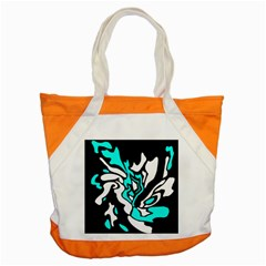 Cyan, Black And White Decor Accent Tote Bag by Valentinaart