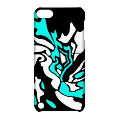 Cyan, Black And White Decor Apple Ipod Touch 5 Hardshell Case With Stand by Valentinaart