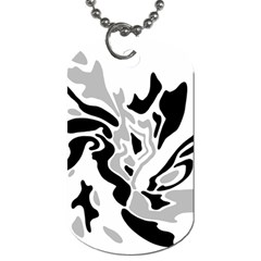 Gray, Black And White Decor Dog Tag (two Sides) by Valentinaart