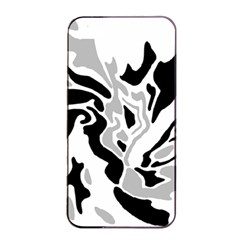 Gray, Black And White Decor Apple Iphone 4/4s Seamless Case (black) by Valentinaart