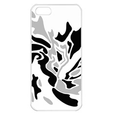 Gray, black and white decor Apple iPhone 5 Seamless Case (White)