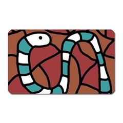 Blue snake Magnet (Rectangular) by Valentinaart