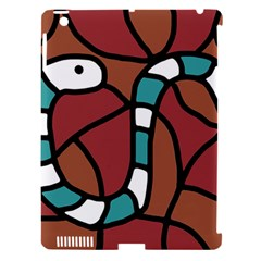 Blue Snake Apple Ipad 3/4 Hardshell Case (compatible With Smart Cover) by Valentinaart