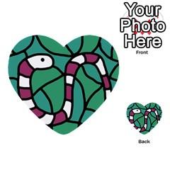 Purple Snake  Multi Purpose Cards (heart)  by Valentinaart
