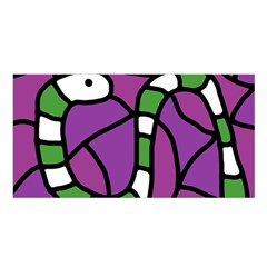 Green Snake Satin Shawl by Valentinaart