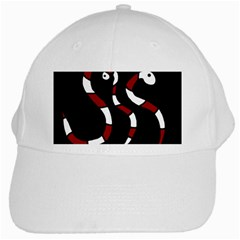 Red Snakes White Cap by Valentinaart