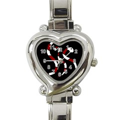 Red Snakes Heart Italian Charm Watch by Valentinaart