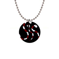 Red Snakes Button Necklaces by Valentinaart