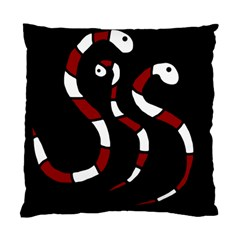 Red Snakes Standard Cushion Case (one Side) by Valentinaart