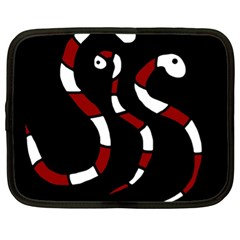 Red Snakes Netbook Case (xl)  by Valentinaart