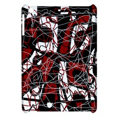 Red Black And White Abstract High Art Apple Ipad Mini Hardshell Case by Valentinaart