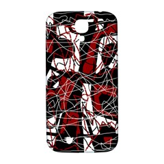 Red Black And White Abstract High Art Samsung Galaxy S4 I9500/i9505  Hardshell Back Case by Valentinaart