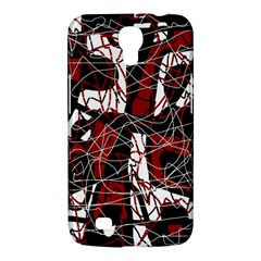 Red Black And White Abstract High Art Samsung Galaxy Mega 6 3  I9200 Hardshell Case by Valentinaart