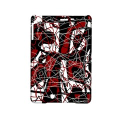 Red black and white abstract high art iPad Mini 2 Hardshell Cases by Valentinaart