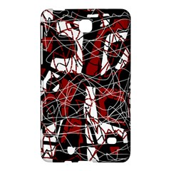 Red Black And White Abstract High Art Samsung Galaxy Tab 4 (7 ) Hardshell Case  by Valentinaart