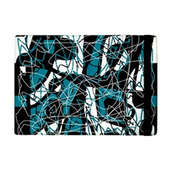 Blue, Black And White Abstract Art Ipad Mini 2 Flip Cases by Valentinaart