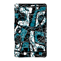 Blue, Black And White Abstract Art Samsung Galaxy Tab S (8 4 ) Hardshell Case  by Valentinaart