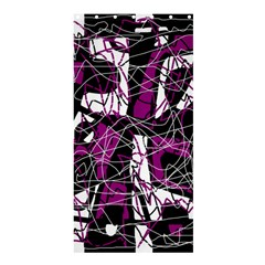 Purple, White, Black Abstract Art Shower Curtain 36  X 72  (stall)  by Valentinaart