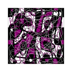 Purple, White, Black Abstract Art Acrylic Tangram Puzzle (6  X 6 ) by Valentinaart
