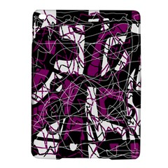 Purple, White, Black Abstract Art Ipad Air 2 Hardshell Cases by Valentinaart