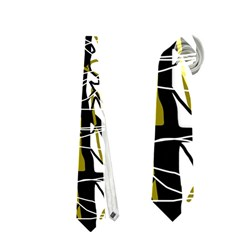 Brown Abstract Art Neckties (two Side)  by Valentinaart